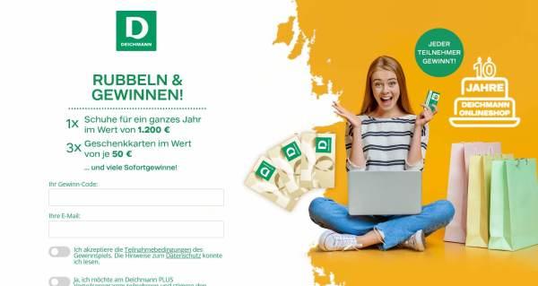 Deichmann Rubbeln und Gewinnen Screenshot