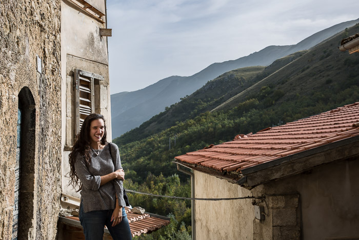 Portrait of Candiss with vista view of Cocullo, Village in Abruzzo Italy | LOST NOT FOUND | Reflections of 5 Years of Travel