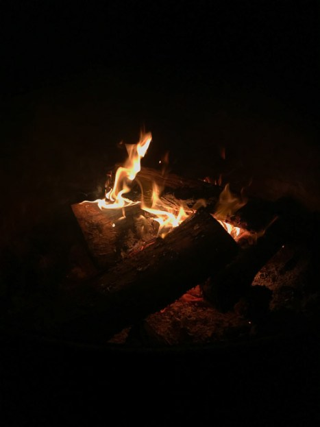 Campfire at night at Van Damme State Park CA | LOST NOT FOUND | Mendocino CA Camping Weekend