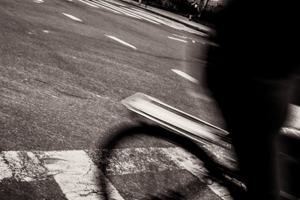 Abstract view of a bike rider with motion blur in Manhattan NYC | LOST NOT FOUND | NYC through a Local's Eyes - A Photo Essay