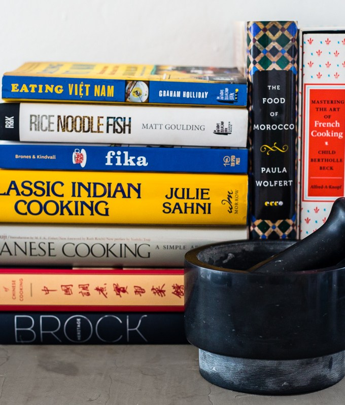 Collection of Cookbooks for a Foodie Gift Guide