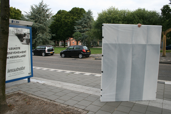 Op weg naar de bushalte