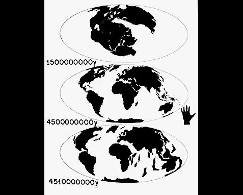 039 - Diagram of continental drift, Jon Lomberg