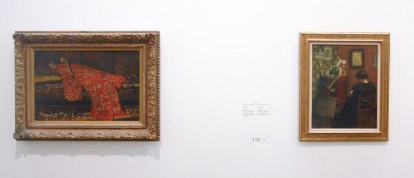 George Hendrik Breitner - De rode Kimono - Olieverf op doek, 1893-1894 & Henri Matisse - Lezende vrouw - Olieverf op hout, 1895
