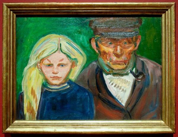 Edvard Munch - Oude visser en zijn dochter - Olieverf op doek, 1902