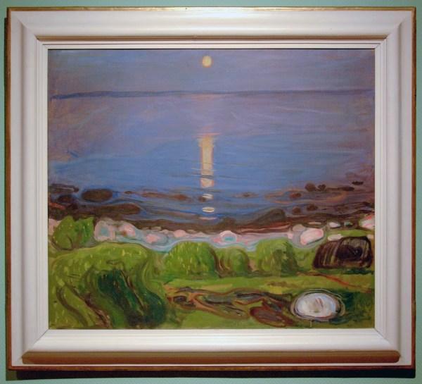 Edvard Munch - Zomernacht aan het strand - Olieverf op doek, 1902-1903