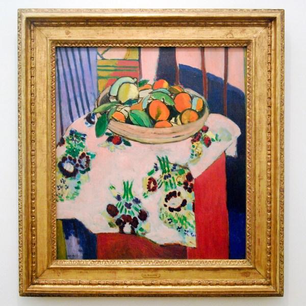 Henri Matisse - Stilleven met mand sinaasappels - Olieverf op doek, 1912