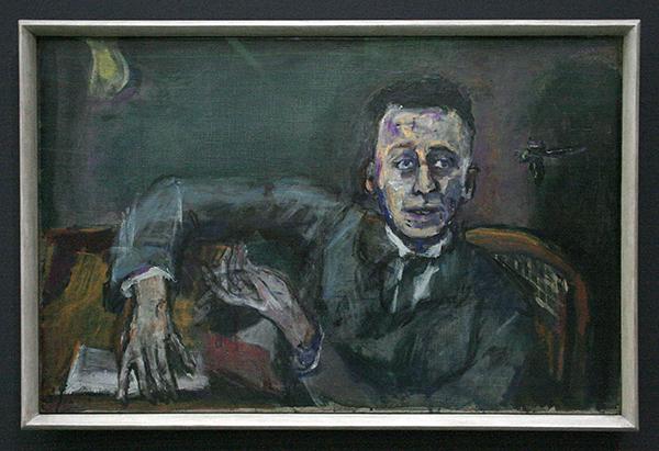 Oskar Kokoschka - Karl Kraus II - Olieverf op doek 1925