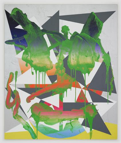 Luke Rudolf - Portrait No 20 - 175cm x 145cm acryl en olie