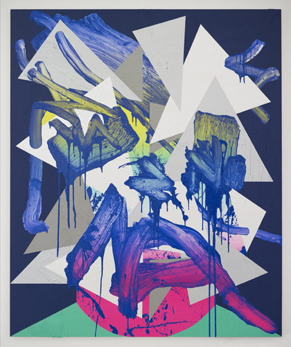 Luke Rudolf - Portrait No 22 - 175cm x 145cm acryl en olie
