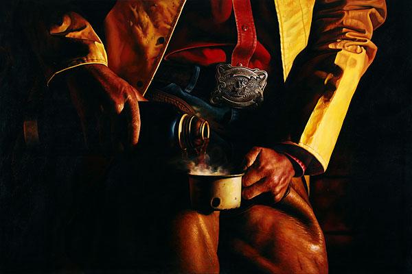 Cowboy #6 - 180x120cm Olieverf