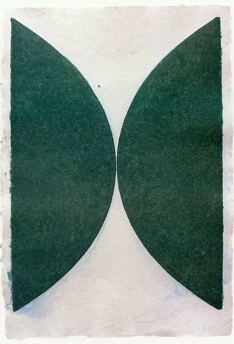 Ellsworth Kelly - Colored Paper Image II (Dark Green Curves) - 40x29inch Gekleurde en geperstte papier pulp