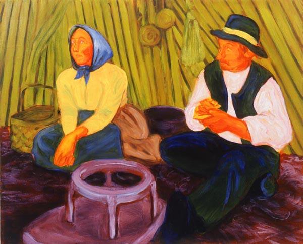 Sámi Couple - 61x75cm