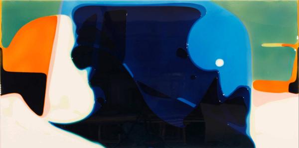 Untiteld - 160x300cm Epoxy en airbrush op canvas