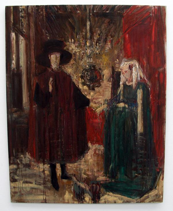 Werner Moonen - Arnolfini en bruid - Olieverf op doek