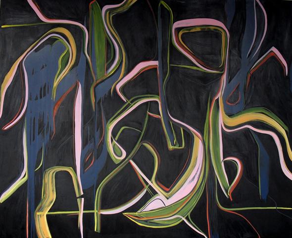ZLL - 210x170cm olie- en lakverf op canvas
