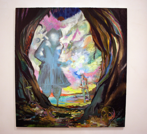 Dead Men Tell No Tales - 190x175cm Olieverf en spuitbus op canvas