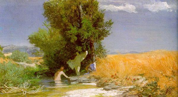 1863-66 Nymphs Bathing