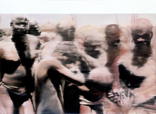 Neger (Nuba)/Negroes (Nuba), 1964, 145 cm X 200 cm, Oil on canvas