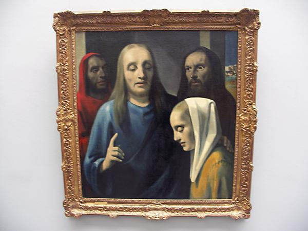 Christus en de overspelige vrouw - 1943