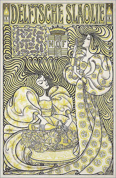 Delftsche Slaolie poster