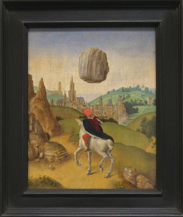 Laurent Grasso - (Studies into the Past) Psychokinesis - 29x24cm Olieverf op paneel