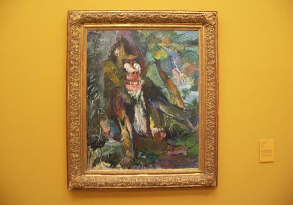 Oskar Kokoschka - Mandril - Olieverf op doek 1926