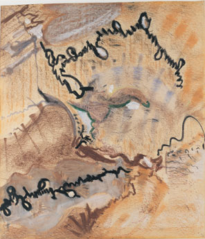Untitled - 20x15inch Wasco en oliekrijtjes op papier