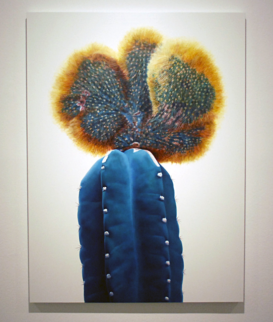 Cactus no.44 - 130x97cm Olieverf op canvas