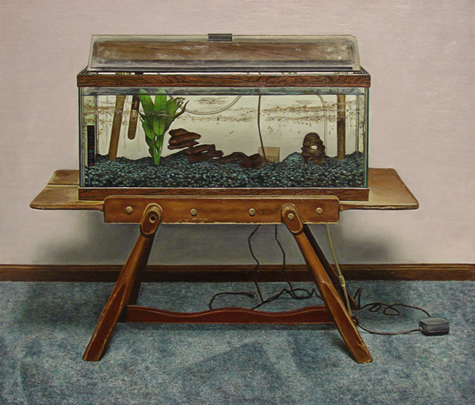 Aquarium Afterlife - 16x20inch Olieverf op paneel