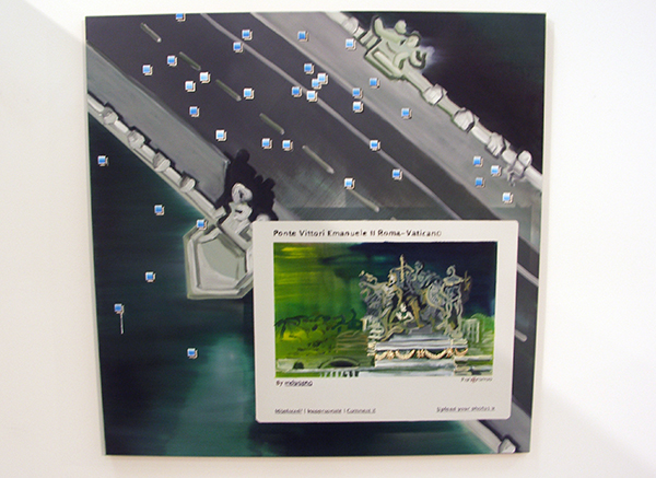 Aquil Copier - Mapping Landscapes #6 - 130x130cm Olieverf en airbrush op doek