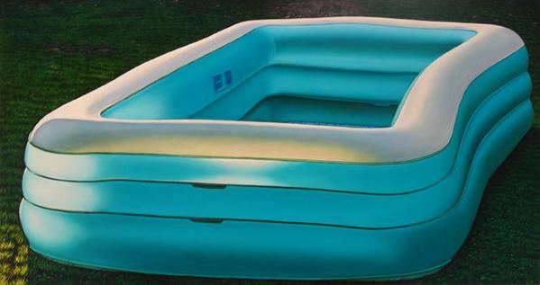 Inflatable Pool - 8x16inch Olieverf op paneel