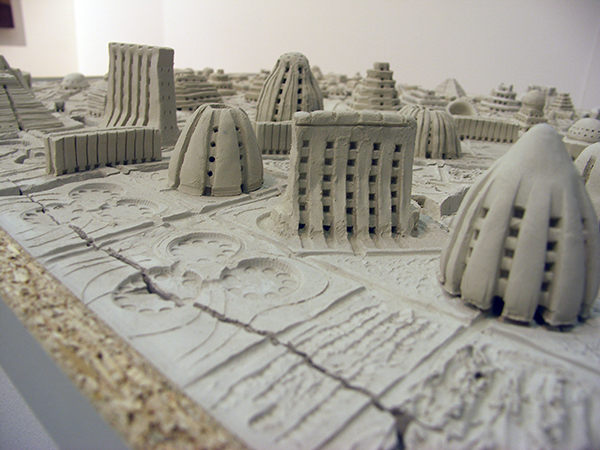 Mark Robert Peters - Utopian City - 100x100cm (detail)