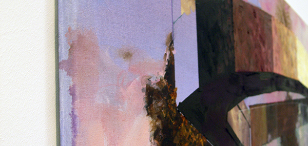Michiel van der Zanden - Recreation #1 -145x190cm Acryl en olieverf op doek (detail)