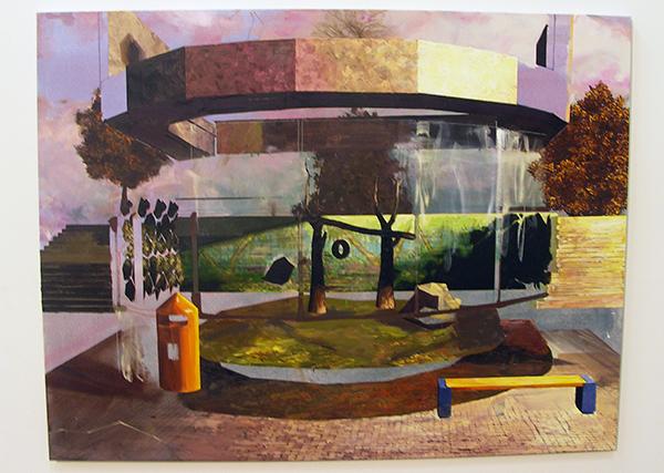 Michiel van der Zanden - Recreation #1 -145x190cm Acryl en olieverf op doek
