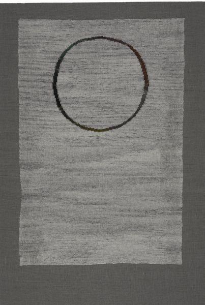 Odd Couple - 205x140cm Handgebreide wol op burlap