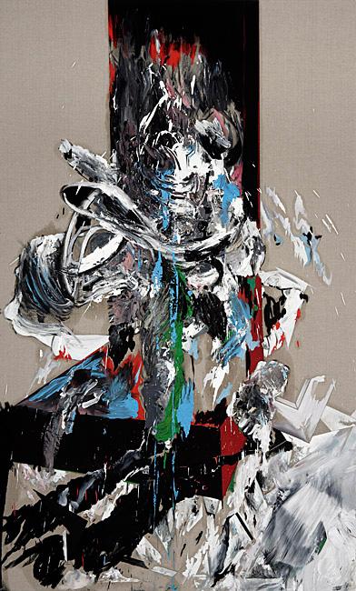 Untitled 1.5 - 239x144cm Olieverf en potlood op linnen