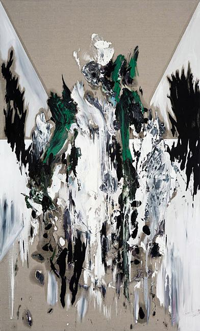 Untitled 1.9 - 198x120cm Olieverf en potlood op linnen