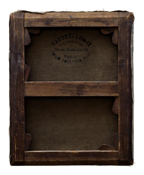 Verso - Henri Rouard - La lecture - 55x47cm