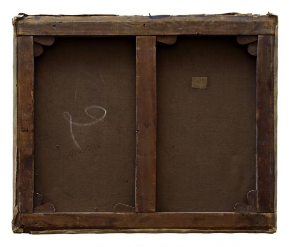 Verso - Henri Rouard - Massif de fleurs - 60x70cm
