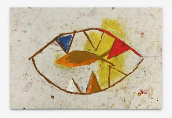 Abble - 127x191cm Olieverf, spuitbus en mixed-media op canvas