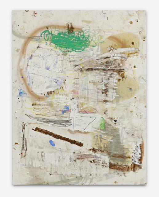 Harold - 168x130cm Olieverf, spuitbus en mixed-media op canvas