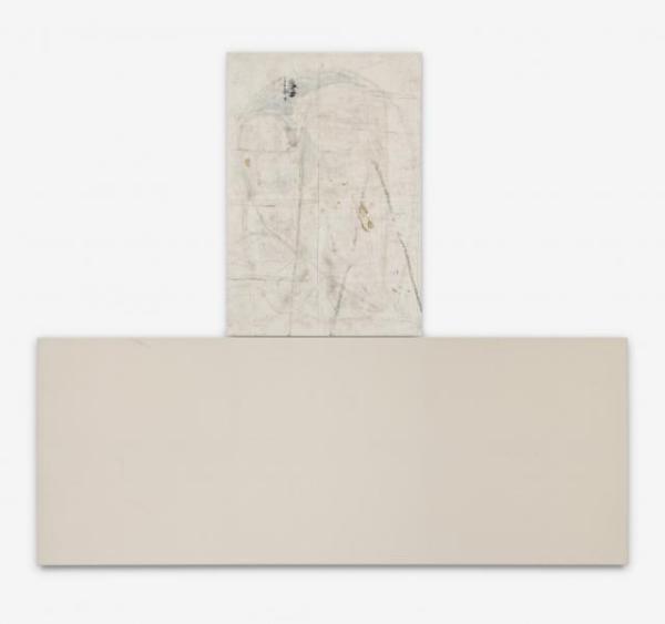 Kilroy - 122x317cm + 104x153cm Olieverf, spuitbus en mixed-media op canvas in twee delen