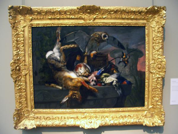 Pieter Boel - Stilleven met uil en jachtbuit