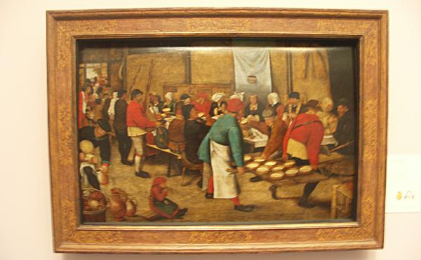 Pieter II Breughel - Bruiloftsmaal in de schuur
