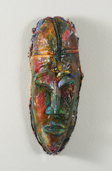 Tribal 'paint' mask - 16x7inch Acrylverf
