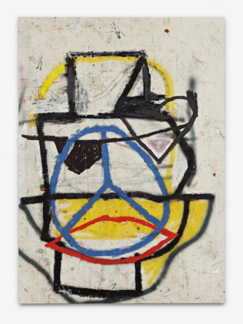 Untiteld Freek - 198x142cm - Olieverf, spuitbus en mixed-media op canvas