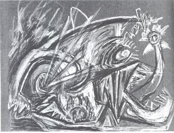 Tekening Jackson Pollock