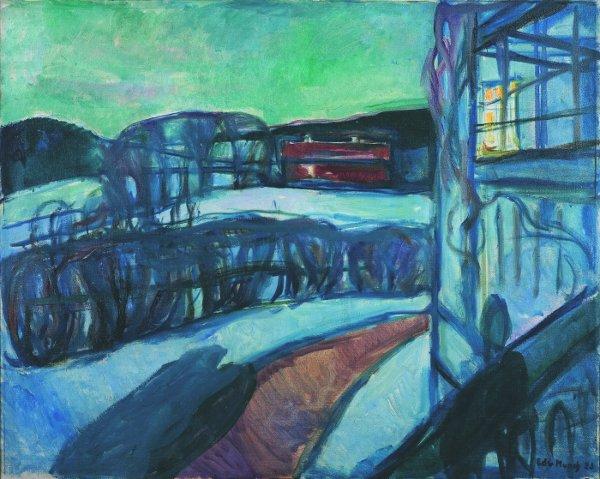 Edvard Munch, Winternacht, 1923