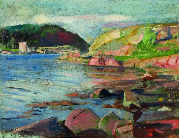 Edvard Munch, De Tønsbergfjord, 1888